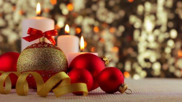 Thumbnail for Christmas Balls and Burning Candles