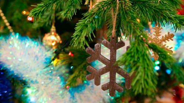Thumbnail for Christmas Wooden Snowflake