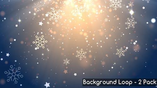 Glitzernde Schneeflocken-Hintergründe