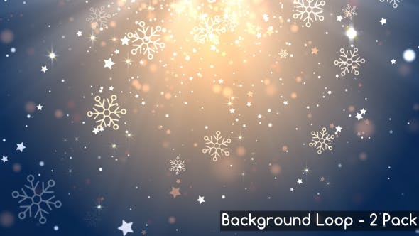 Thumbnail for Glittering Snowflake Backgrounds