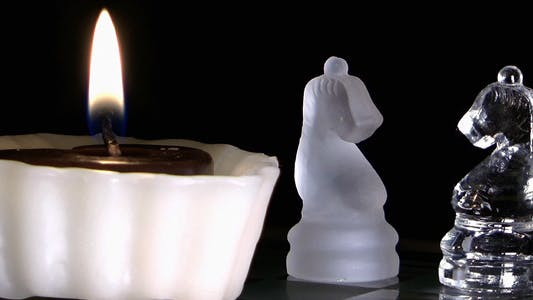 Thumbnail for Candle and Chess Made By Glass