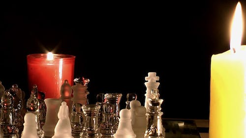 Candles and Chess made by Glass 2