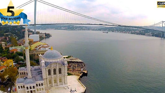 Thumbnail for Aerial View of Mosque And Bosphorus