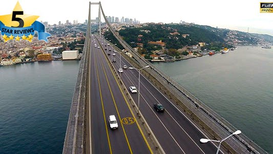 Thumbnail for Aerial View of Traffic in Bosphorus Istanbul