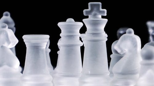 Chess Game Made by Glass 4