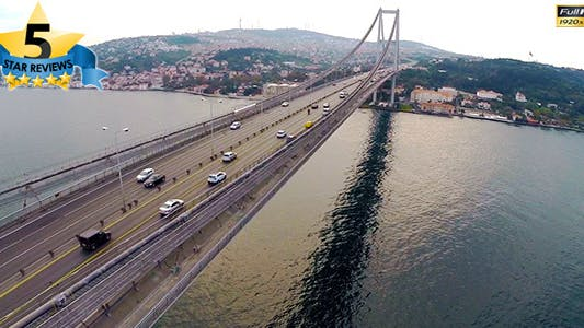 Cover Image for Aerial View of Traffic in Bosphorus Istanbul