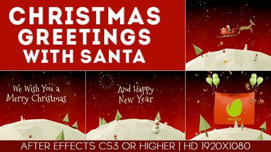 Christmas Greetings with santa