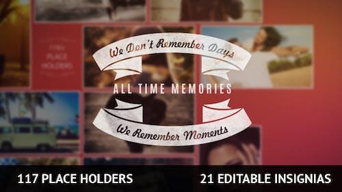 117 PlaceHolders + 21 Insignia - Memories Slideshow