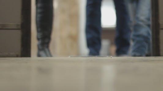 Thumbnail for Subway Doors People Legs