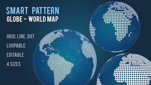 Smart Pattern Globe - World Map Generator