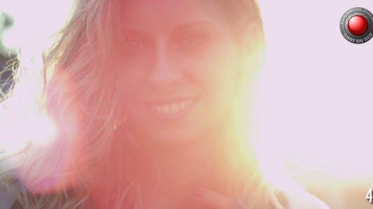 Blond Girl in Sun Rays