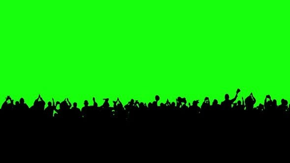 Thumbnail for Crowd of People on the Green Screen