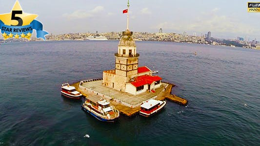 Cover Image for Aerial View of Maiden's Tower (Istanbul)