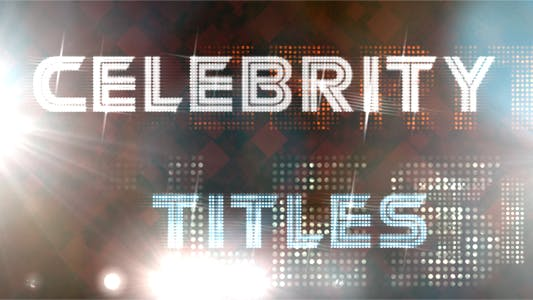 Thumbnail for Celebrity Titles