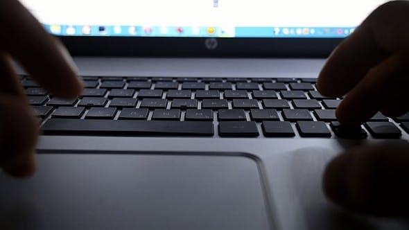 Thumbnail for Laptop Keyboard at Night