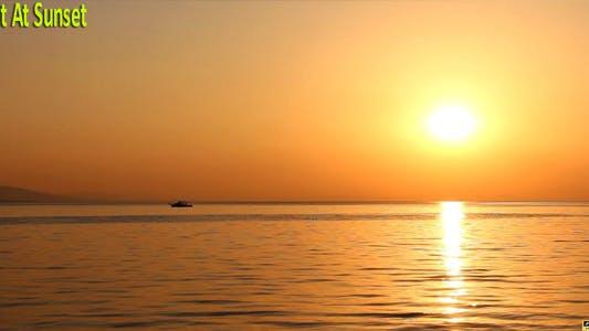 Thumbnail for Boat At Sunset