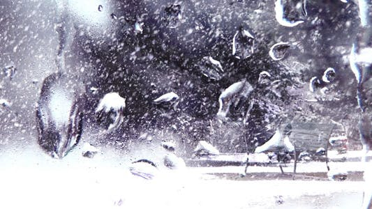 Thumbnail for Snow Drops On Winter Window - 03