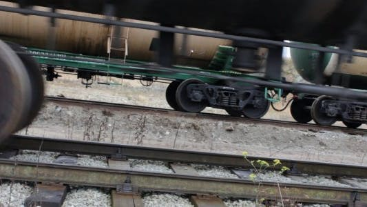 Thumbnail for Passing Cargo Train Close Up