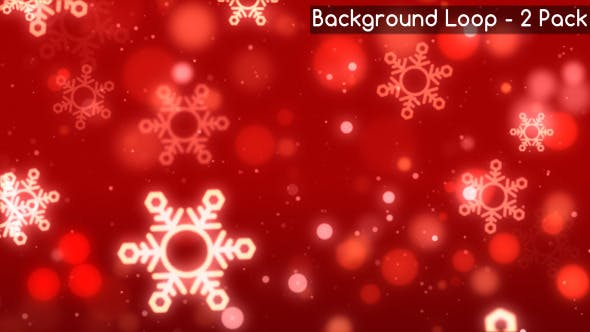 Thumbnail for Christmas Red Snowflake Backgrounds