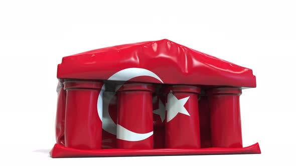 Thumbnail for Deflating Bank or Government Building with Flag of Turkey