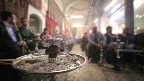 People Smoking Shisha At Nargile Cafe, Istanbul 2