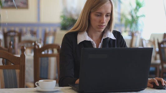 Thumbnail for Business Lady Working at a Laptop