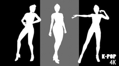4K K-Pop Dancer Silhouette