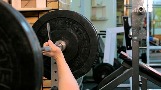 Thumbnail for Man Does Bench Press Barbell 2