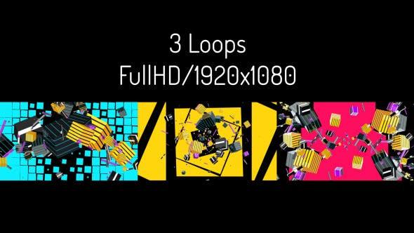 Thumbnail for Swirling Cubics - 3 in 1 VJ Pack