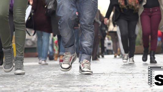 Walking Feet Slow Motion