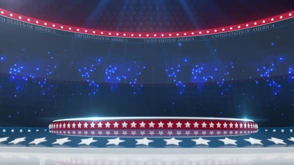 Thumbnail for Usa Broadcast Studio Background