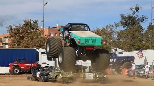 Thumbnail for Monster Truck Crushing Cars