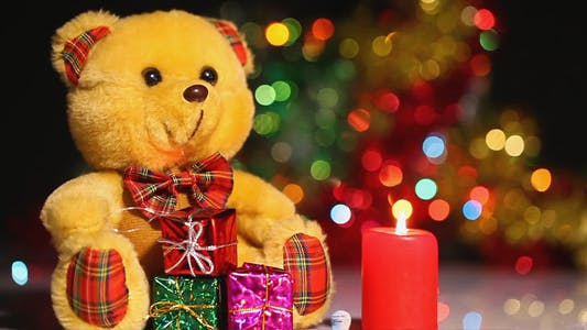 Thumbnail for Bear Toy Gift Box and Candles 1