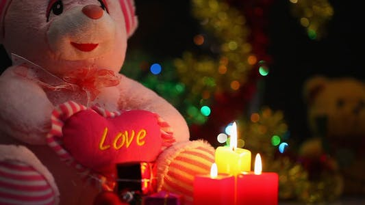 Thumbnail for Bear Toy Gift Box and Candles 3