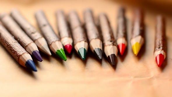 Holz bunter Bleistift