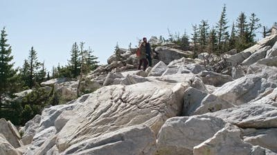 Boyfriend and Girlfriend Hiking