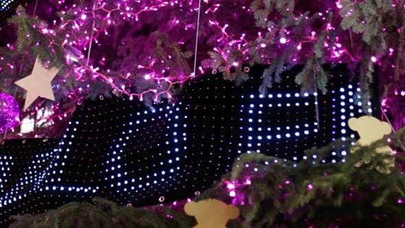 Thumbnail for Christmas Pink Led Light Tree Detail