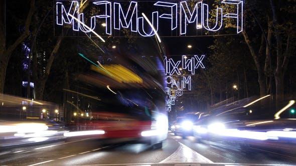 Thumbnail for Barcelona Christmas Street Lights Decorations