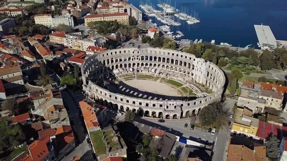 Thumbnail for Flight Around Pula Arena, Croatia.