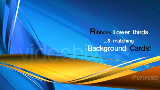Thumbnail for RIBBONS Lower third & Background COMBO