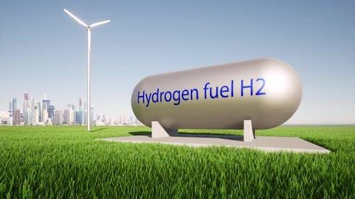 Hydrogen Fuel Tank Vehicle Concept Renewable Energy Storage System Power Electric Plant Futuristic