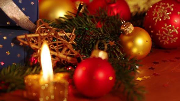 Thumbnail for Still Life with Christmas Decorations and Candles