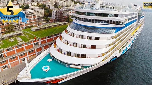 Thumbnail for Aerial View of Cruise Ship