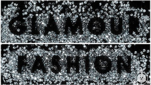 Diamonds - Glamour and Fashion Text (2-Pack)