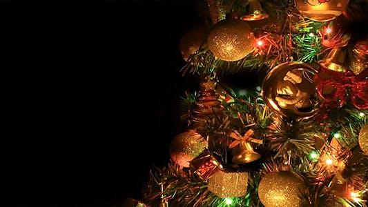 Thumbnail for Christmas Tree on Black Background