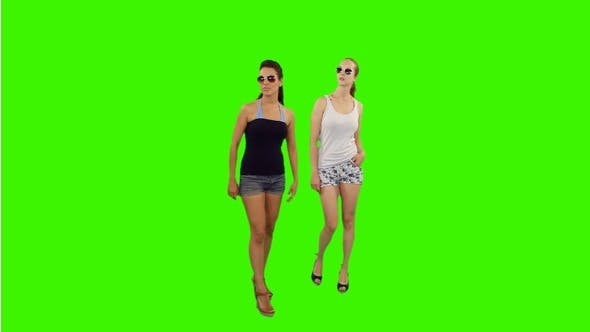 Thumbnail for Two Young Women Thinking Where to Go