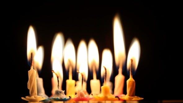 Thumbnail for Birthday Candles Changing into Fire