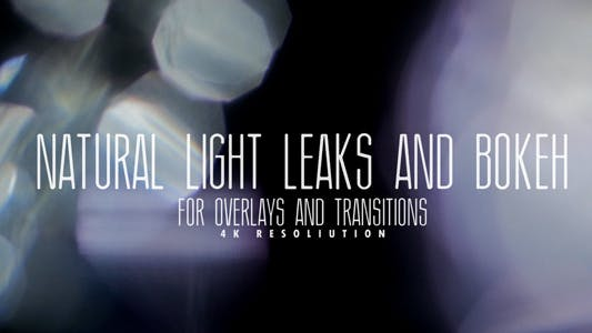 Thumbnail for Natural Light Leaks And Bokeh For Overlays