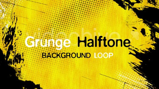 Thumbnail for Grunge Halftone Background Loop
