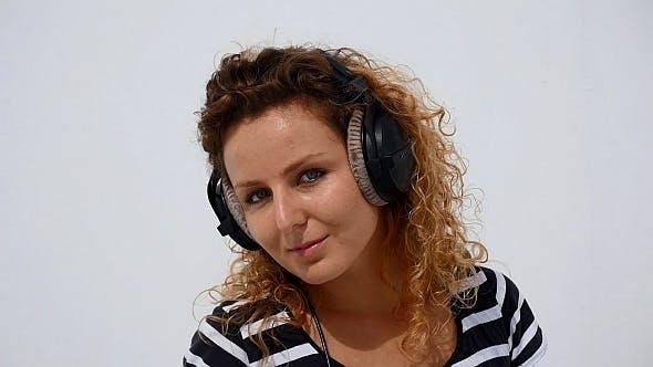 Thumbnail for Girl Dancing in Headphones on White